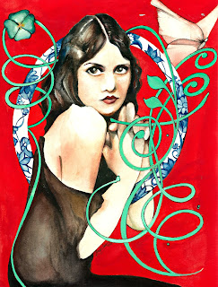 Illustration of Kathleen Ardelle one of the Ziegfeld Follies