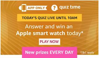 Amazon Apple Smartwatch Quiz