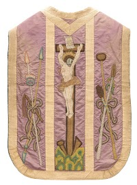 An Embroidered Lenten Chasuble from Vilnius, Lithuania