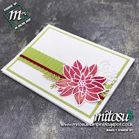 Stampin' Up! Detailed Poinsettia Thinlits Die Card Idea. Order cardmaking supplies from Mitosu Crafts UK Online Shop