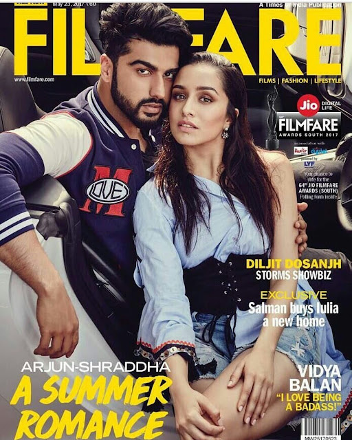 Half Girlfriend Duo Shraddha and Arjun On Filmfare May 2017 Issue