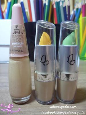 comprinhas feminices mulher maquiagem esmalte dica beleza make kit mulherzice corretivo vult cosmetica impala nude