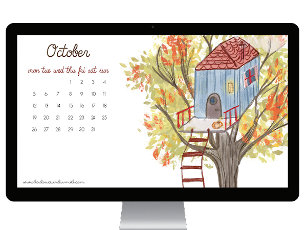 My favorite color is...October! // New desktop wallpaper