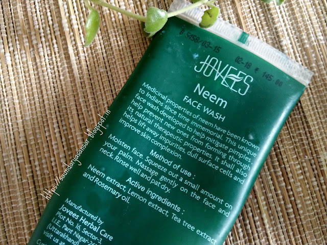 Jovees Neem Face Wash Review