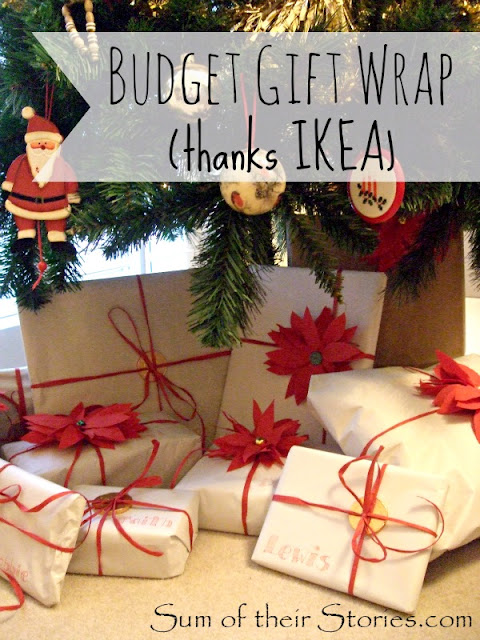 Budget gift wrap with Ikea paper
