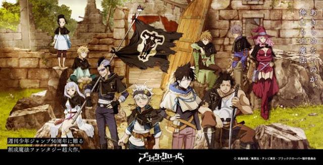 Black Clover - Daftar Anime Fantasy Terbaik Sepanjang Masa
