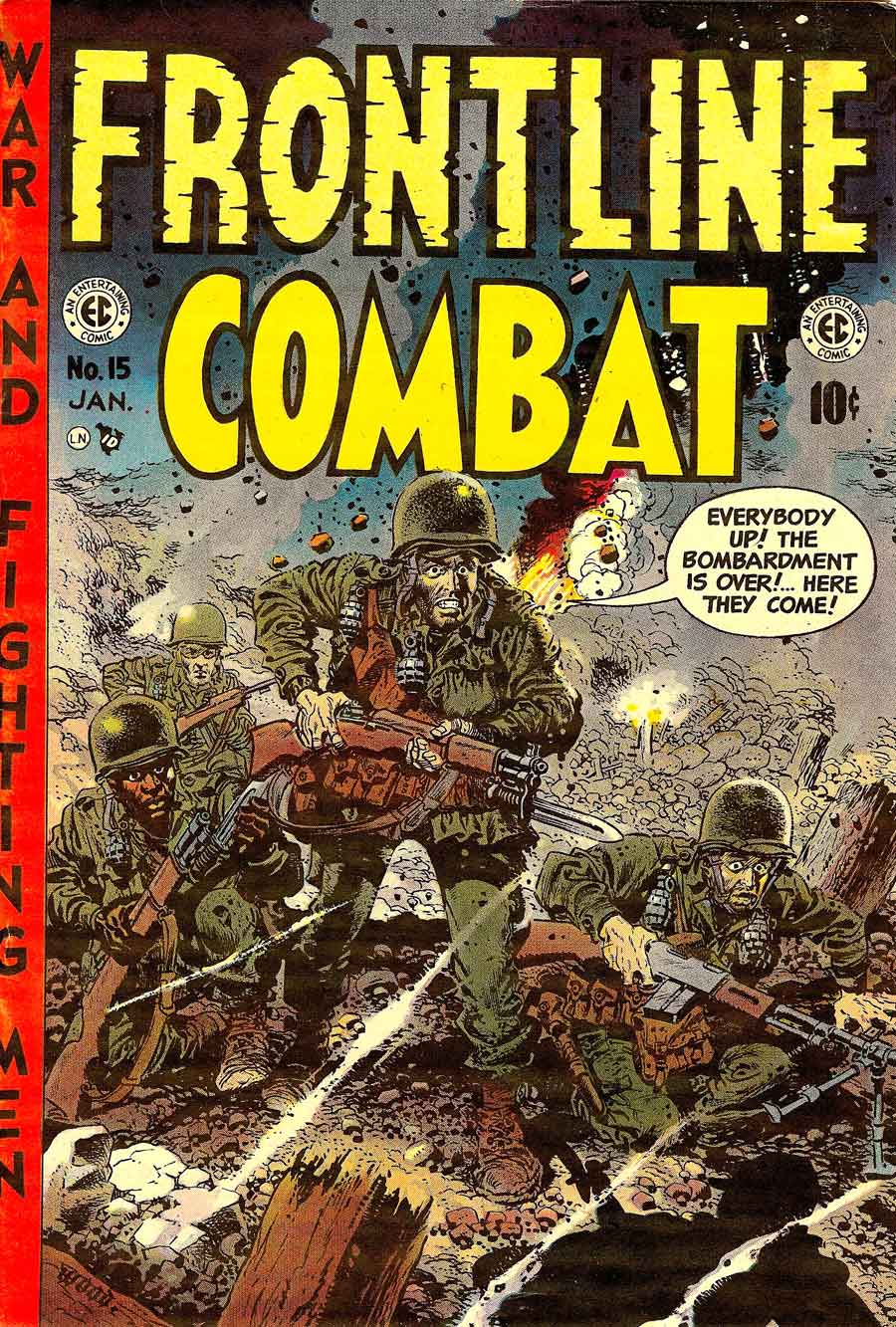 Frontline Combat v1 #15 ec golden age comic book cover art by Wally Wood