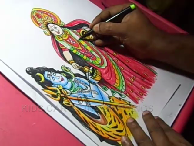 KIDS CARTOON DRAWINGS: How to Draw Goddess Annapoorna Devi