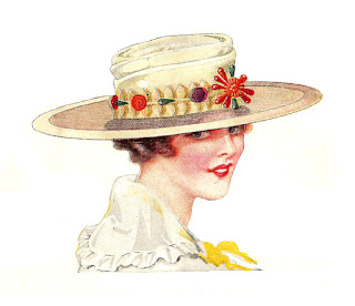hat vintage illustration fashion
