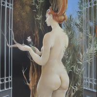 Capozzoli pintura figurativa desnudos Uruguay