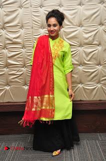 Actress Pooja Ramachandran Pictures in Salwar Kameez at Marala Telupana Priya Audio Launch  0072