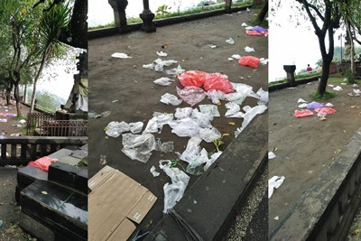 Sampah Berserakan di Obyek Wisata Penelokan Kintamani