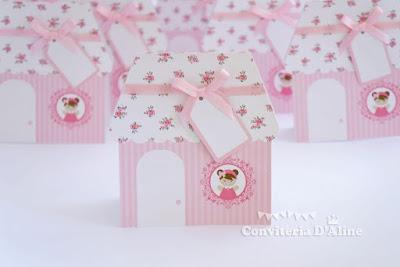 convite casinha de boneca provençal