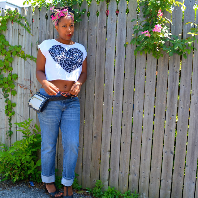 h&m crop top worn with gap boyfriend jeans