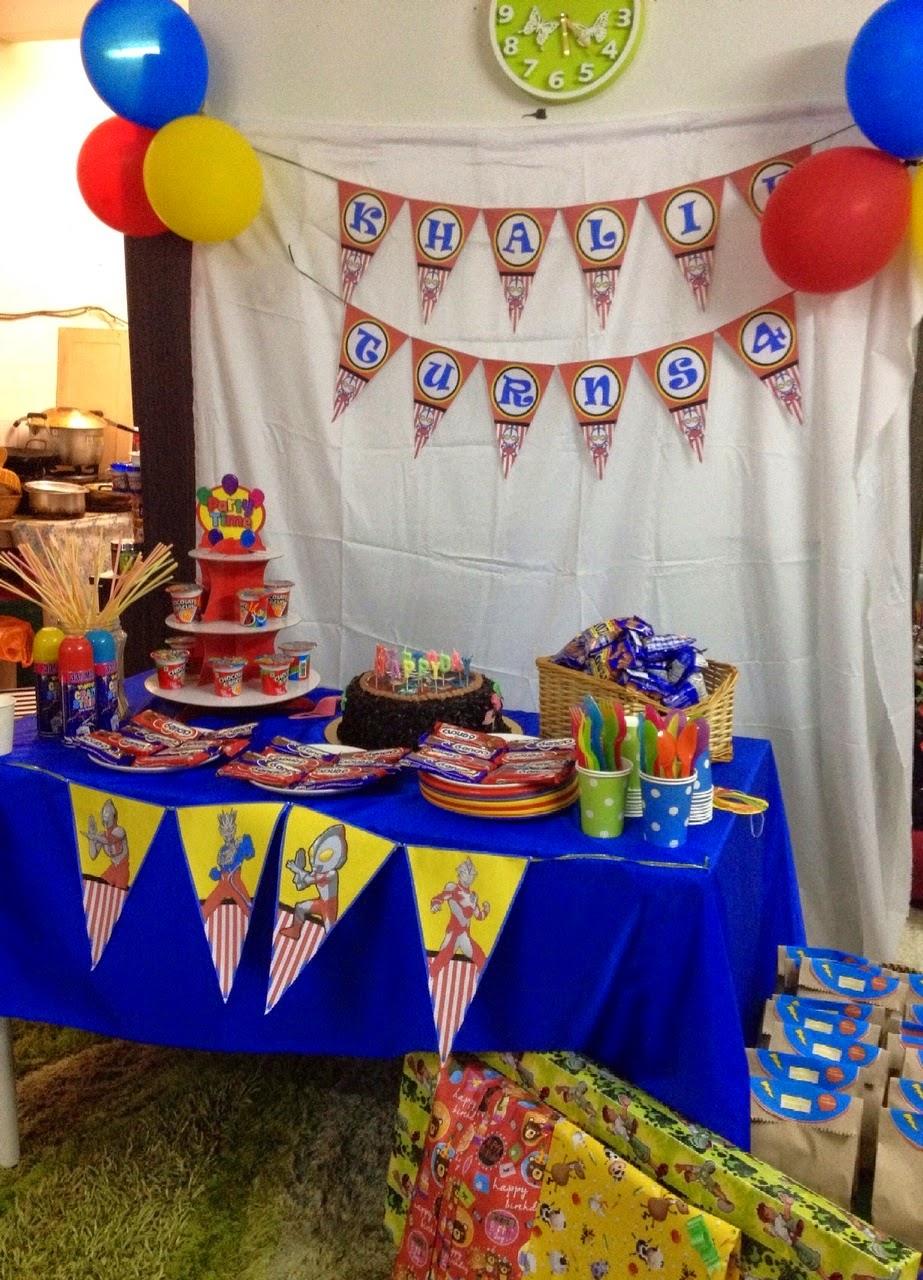 Birthday Theme Ultraman Image Inspiration of Cake and Birthday