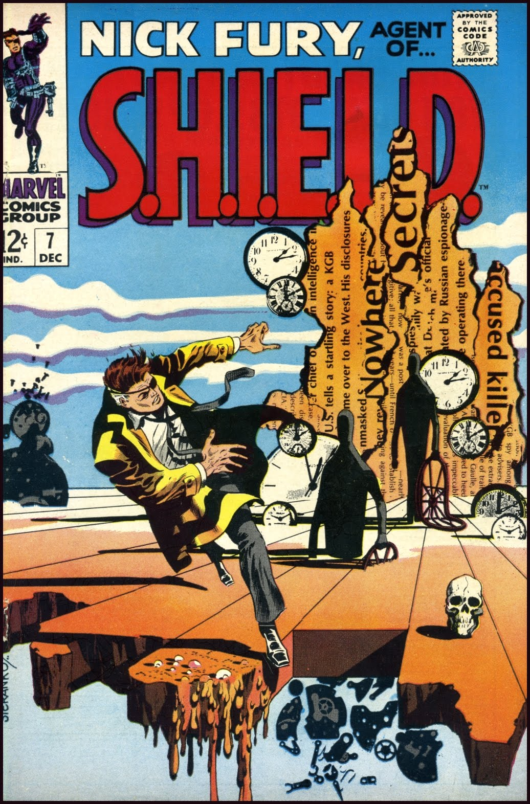 Cover by Steranko Tenth Letter of the