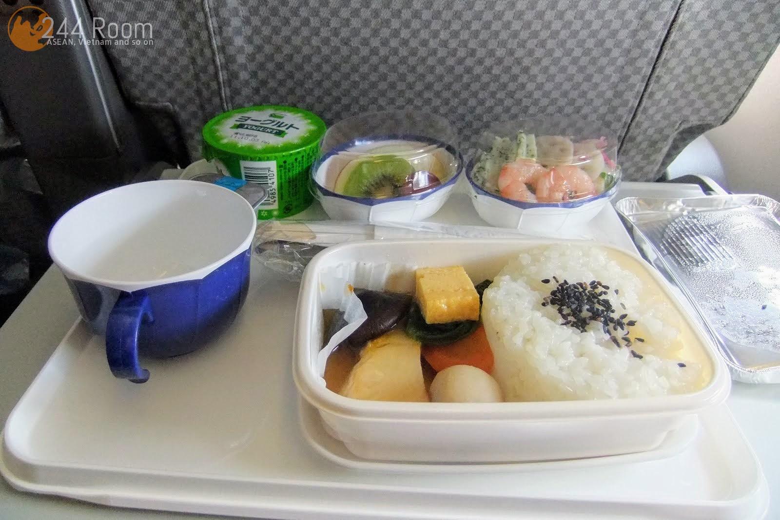 JAL Flight 002 meal 機内食