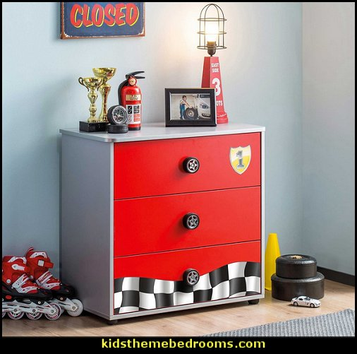 Race car 3 Drawer Chest