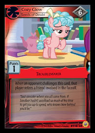 MLP Cozy Glow, Seeds of Doubt Friends Forever CCG Card