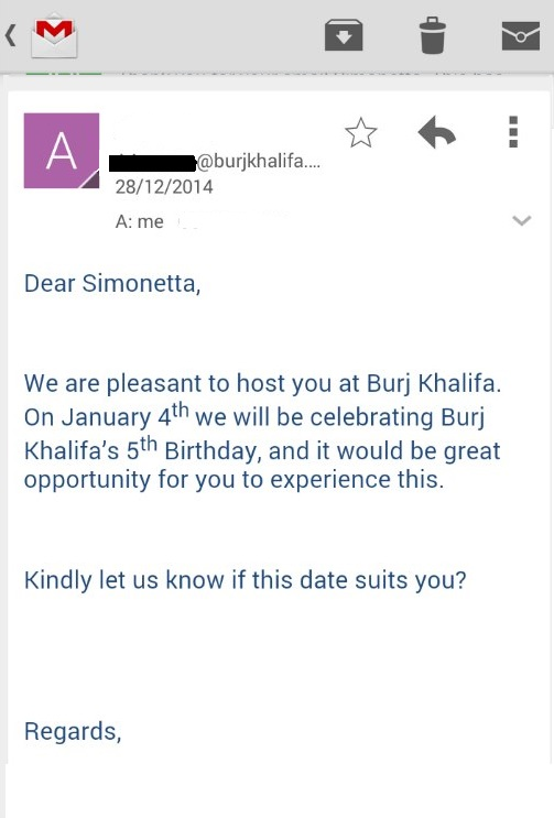 Burj Khalifa email