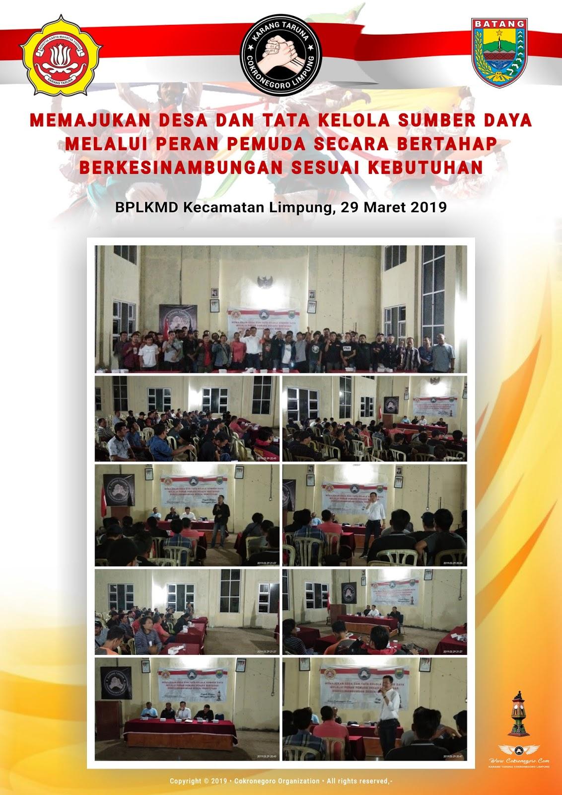 Silaturahmi & Sosialisasi Karang Taruna - 29 Maret 2019