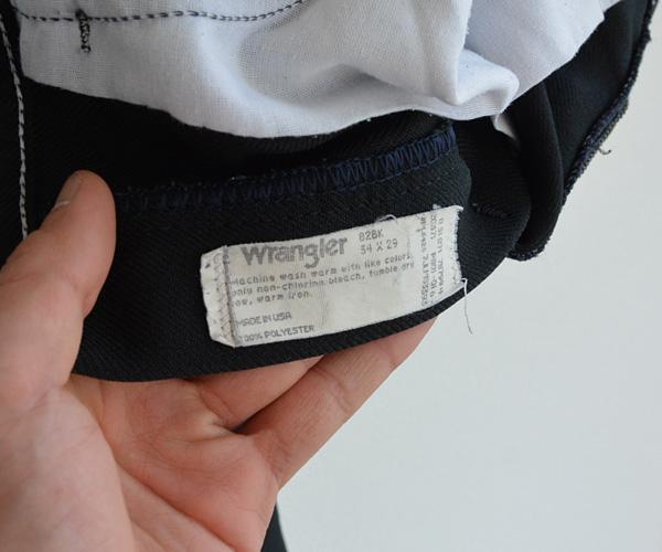 80sヴィンテージWranglerラングラーブーツカットパンツ黒ブラック