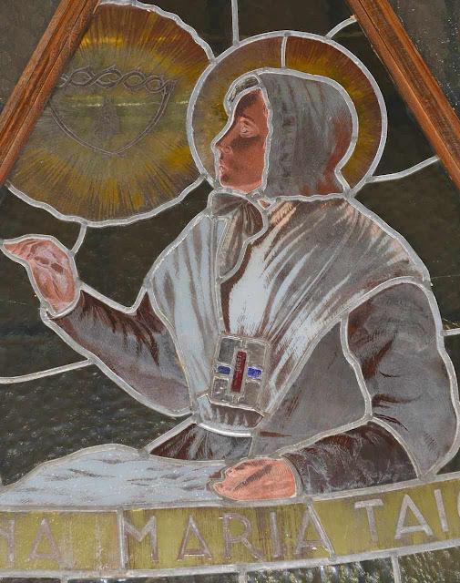 Vitral representando uma visão da Beata Ana Maria Taigi