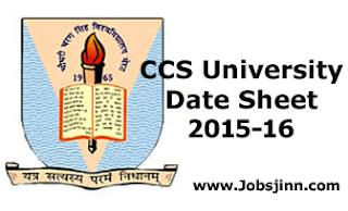 CCS University Date Sheet 2015-16