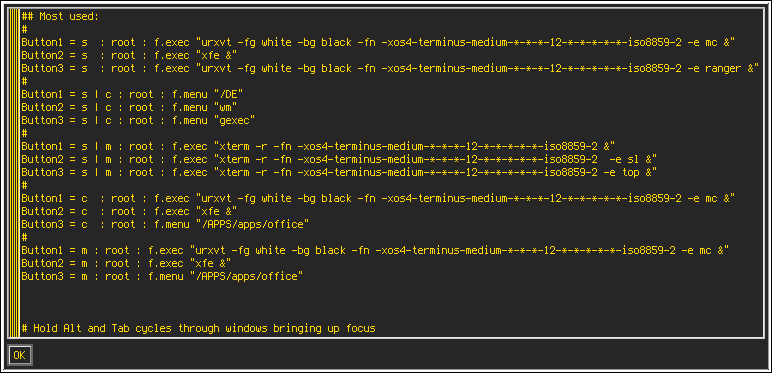 X11 - Xmessage font and colors