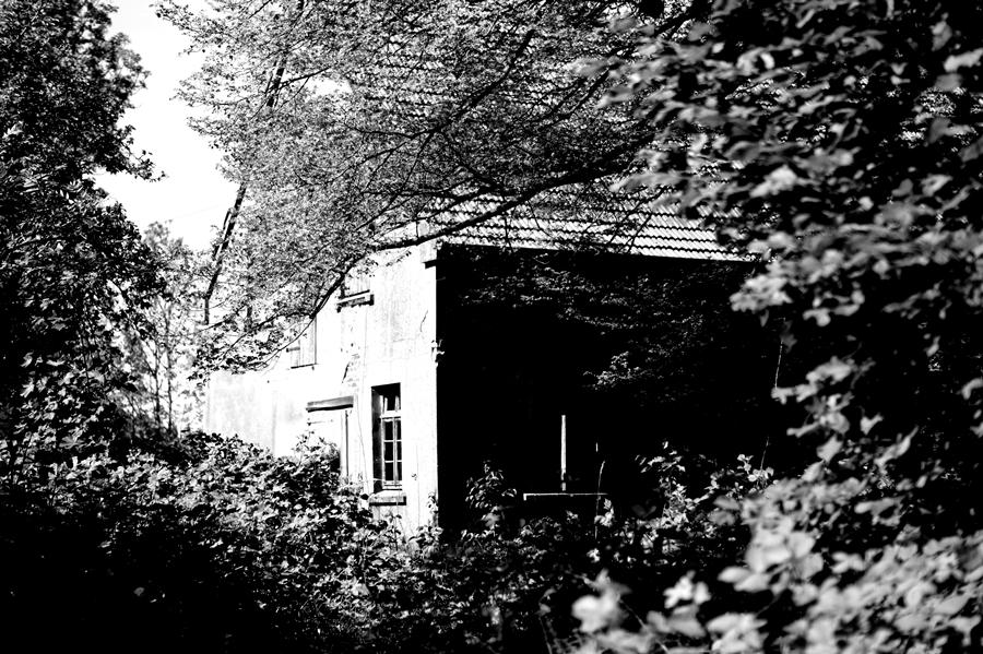 Blog + Fotografie by it's| me!  fim.works | SchwarzWeissBlick No 15 | verlassenes Gehöft | Lost Place | Stallgebäude