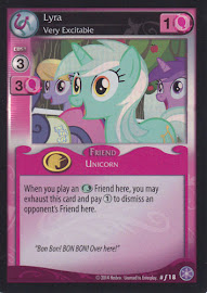 My Little Pony Lyra, Very Excitable The Crystal Games CCG Card