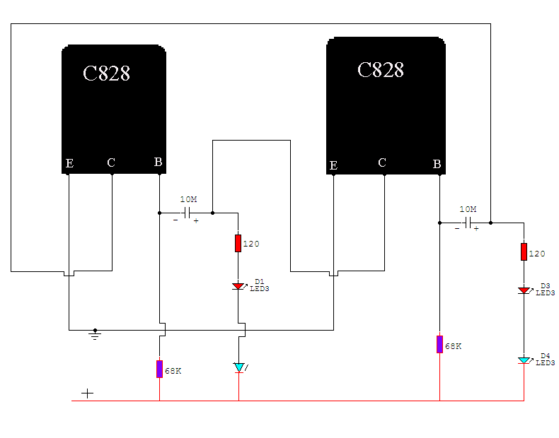 Led Blink with two transistor | Learn Basic Electronics,Circuit ...