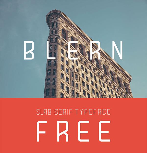 Download 22 Font Terbaru Gratis Edisi Mei 2016 - Blern Free Typeface