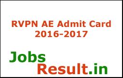 RVPN AE Admit Card 2016-2017