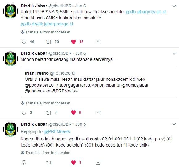 Medsos PPDB Jawa Barat