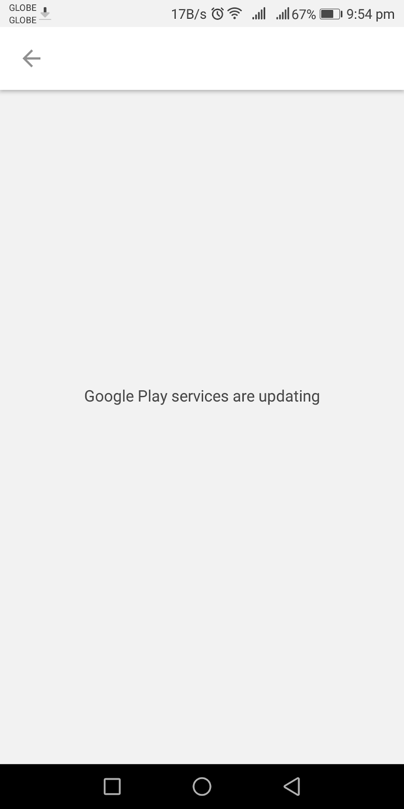 app error google play services are updating