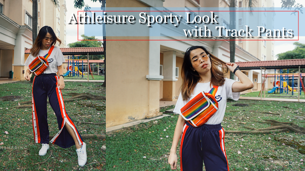 Athleisure Sporty Look with Track Pants #SHARONOOTD