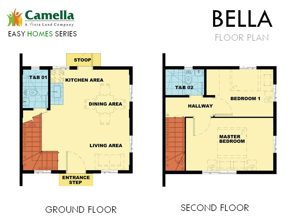 Floor Plan of Bella - Camella Vita Tierra Nevada | House and Lot for Sale General Trias Cavite