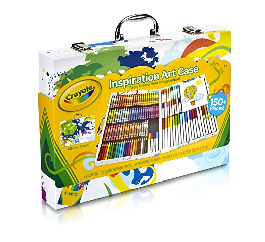 Crayola Inspiration Art Case Tools 140 Pieces Crayons Colored Pencils Washable Markers Paper Portable Storage