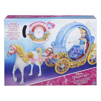 TOYS : JUGUETES - PRINCESAS DISNEY Carroza Tranformación Mágica de Cenicienta Producto Oficial Disney Princess 2016 Muñeca no incluída | Hasbro B6314 | A partir de 3 años Comprar en Amazon España & buy Amazon USA