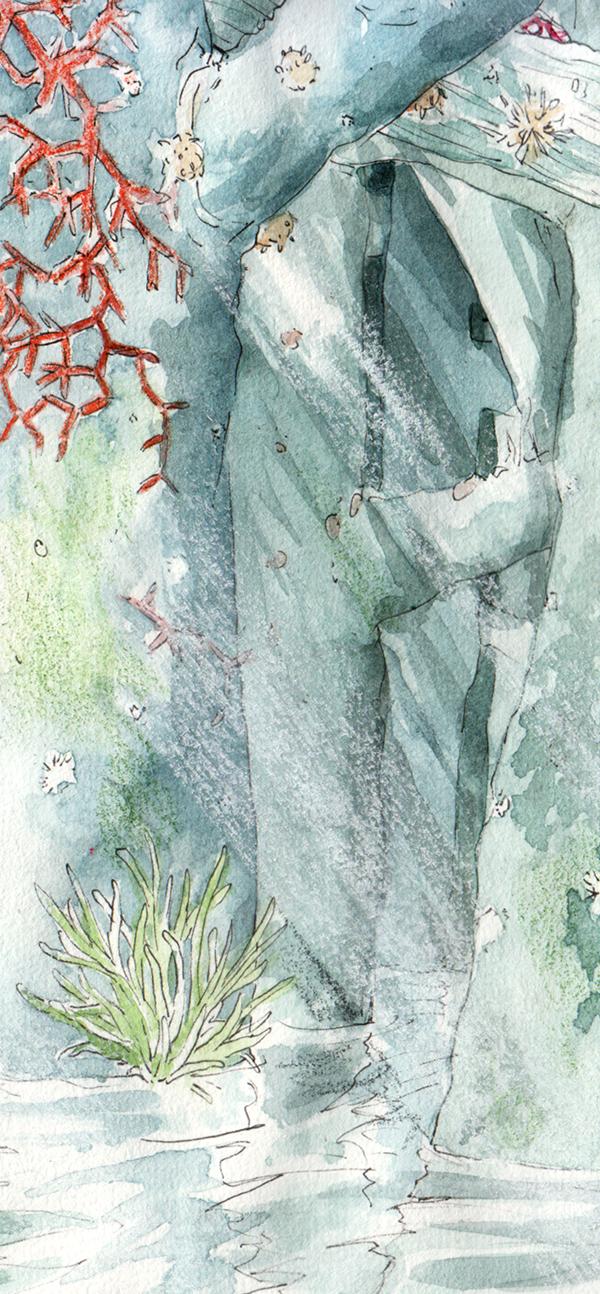Nausicaä rencontre les Ômus - détail de la forêt