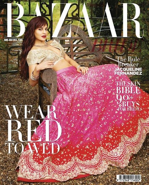 Jacqueline Fernandez Harper Bazaar India Cover