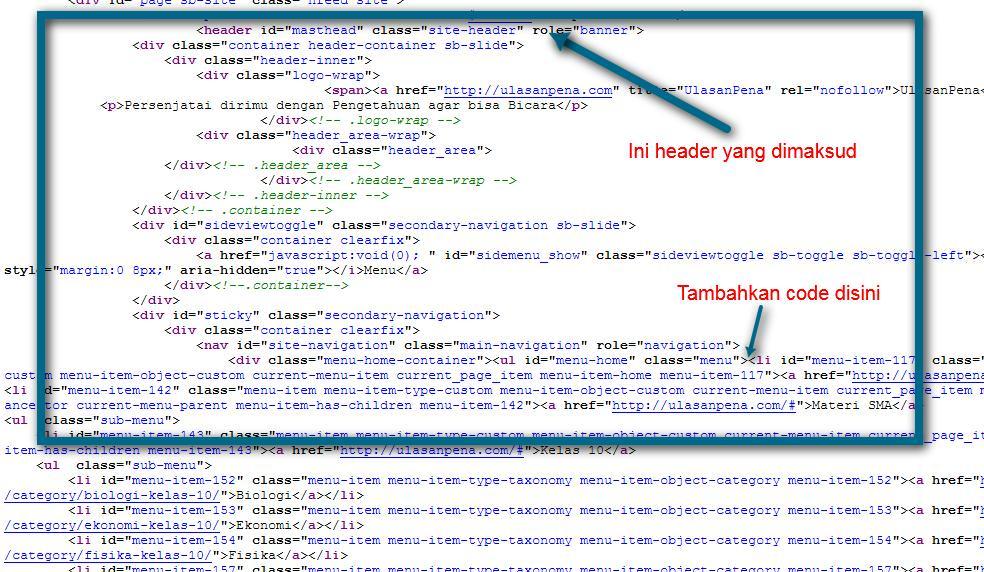 Webjalanan tambah code yang benar