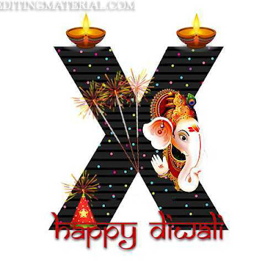 Diwali x alphabet image