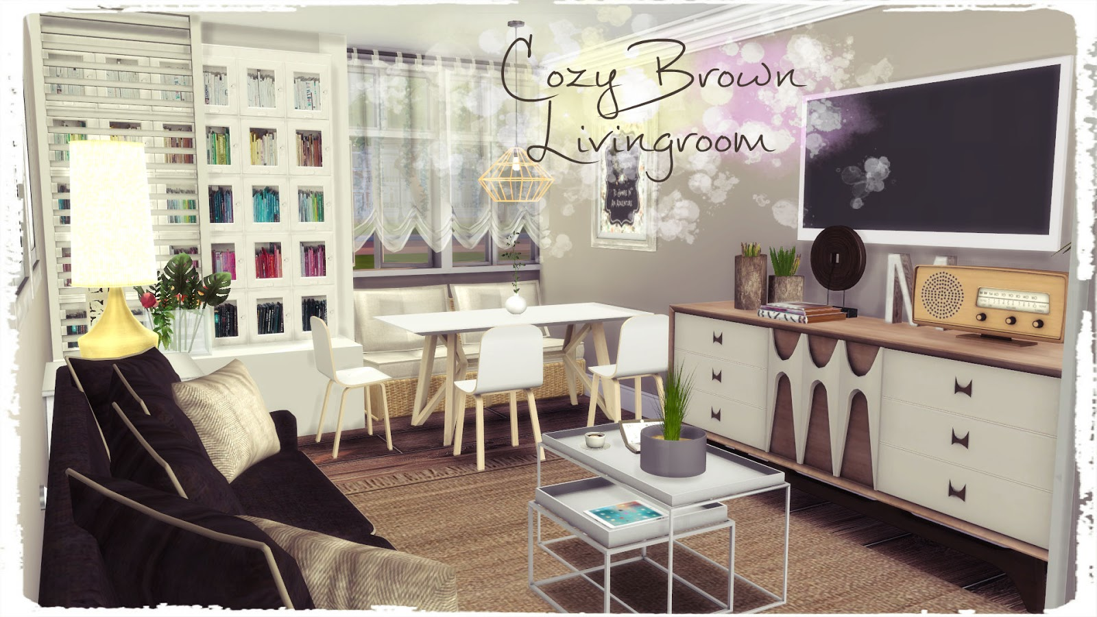 Cozy Living Room: Cozy Brown Livingroom (Build & Decoration)