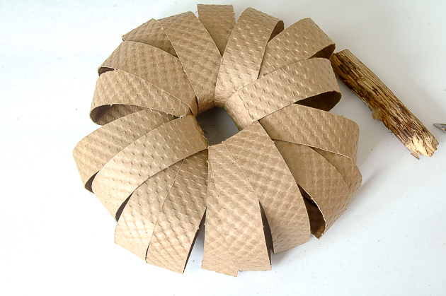 cardboard coffee cup sleeve pumpkin