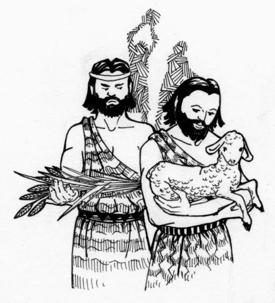 Dibujos Para Colorear De Cain y Abel