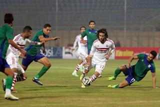 مباراة الزمالك ومصر المقاصة في الدوري المصري 3-3-2017