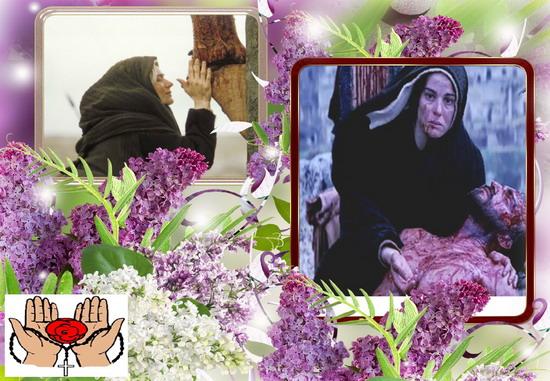 Santo Rosario continuo, di 24 ore, 25 marzo, Settimana Santa con l'Addolorata
