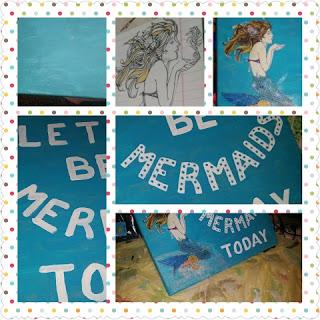 mermaid print collage